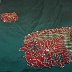 Trendy Embroidered Silk Dupioni Fabric in  Sudhama Nagar