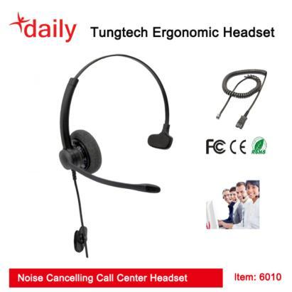Stylish Call Center Headset With Wideband Speaker