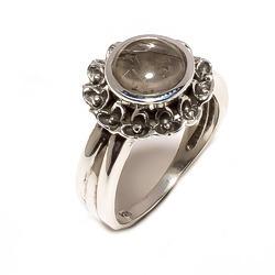Silver Rutile Gemstone Ring (925 Sterling)