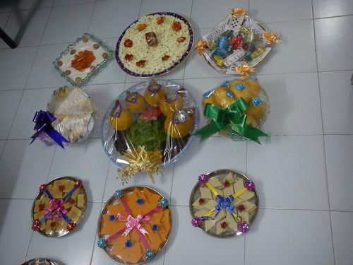 Decorated Wedding Trays Country India