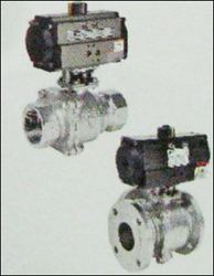 CW Series 3 Way Ball Valve With Pneumatic Rotary Actuator