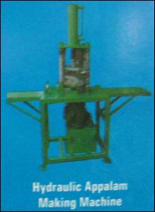 Hydraulic Appalam Making Machine