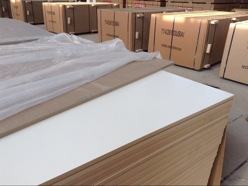 B/S white melamine MDF in   Shuyang County