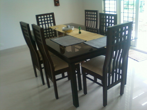 rose wood and teak wood dining table with chair - Teak Wood Dining Table