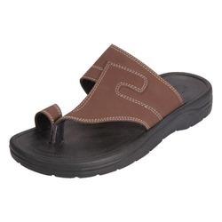 Rubber Sole Men's Leather Sandal