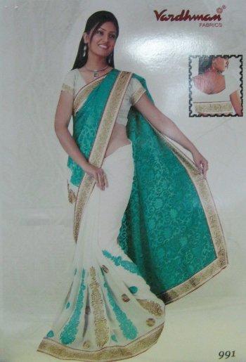 Double Shaded Saree