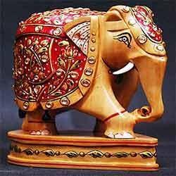 Wooden Elephant Handicraft