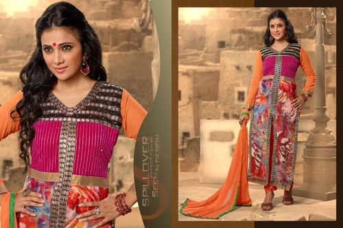 Embroidered Partywear Suit  in  New Textile Market (Rr)