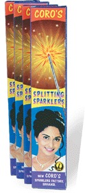 10 Cm Splitting Electric Sparklers (CS 002) in   Chairman A .Shanmugam Road