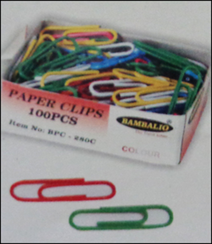 Colour Coated Paper Clips (BPC-350C)