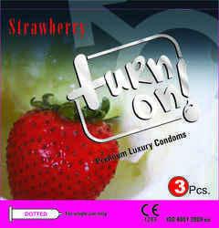 Male Strawberry Condom