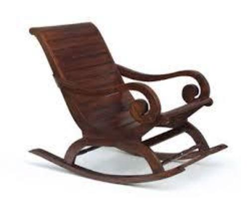 wooden rocking chair in ambewadi