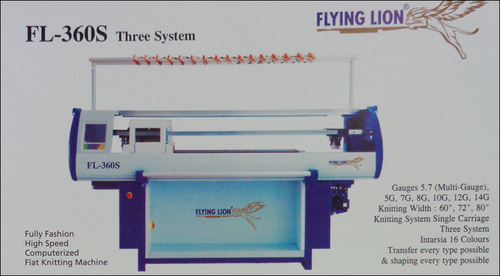Three System Knitting Machine (FL-360S)