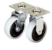 Gray Rubber Wheel Swivel Casters