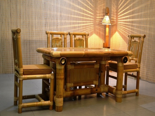 Exclusive Design Bamboo Dining Table in Dibrugarh, Assam, India ...