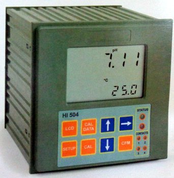 PH and ORP Digital Controller with Sensor Check (HI 504)