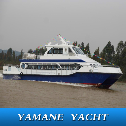 Catamaran FRP Passenger Boat With Diesel Engine