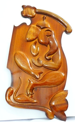 Wooden Ganesha Wall Hanging in  Lal Bazar Street