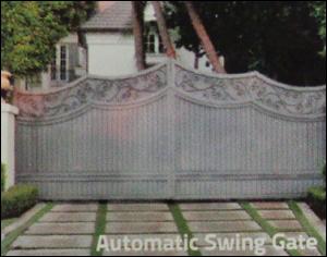 tubular motor automatic swing gate