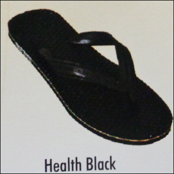 Health Black Chappal