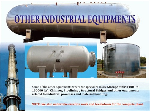 Industrial Chimney And Storage Tank