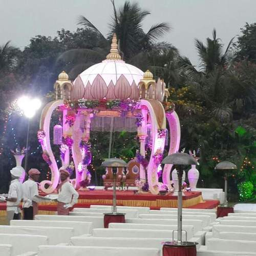 Fiber mandap for wedding decoration in surat gujarat jay fiber mandap for wedding decoration country india junglespirit Images