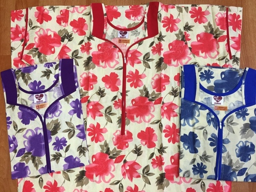 Cotton Printed Nighty in  New Area