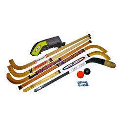 Ice Hockey Stick And Balls