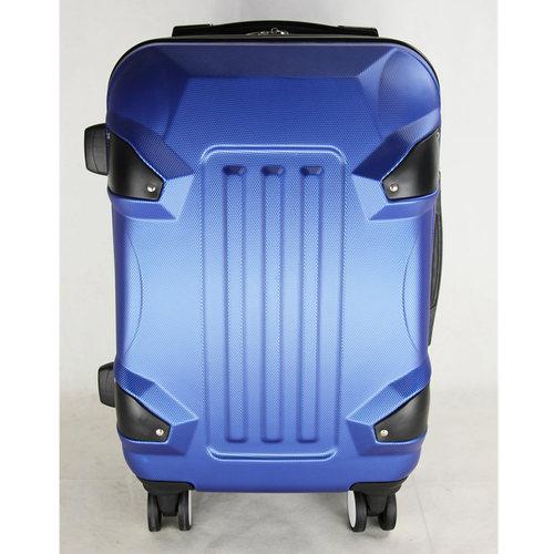 Blue Zipper ABS Luggage Bag