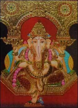 Tanjore Ganesha Painting
