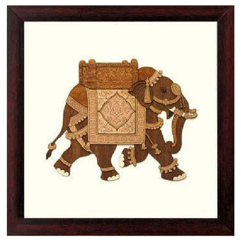 Wooden Wall Hangings Framed - Elephant - 8