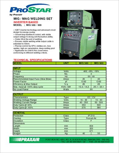 Industrial MIG Welding Machine in  Swaroop Nagar