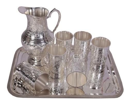 Silver Glasses Lemon Set