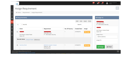 Recruitment Management Web Portal Development Service