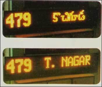 Bus Destination Signs Board