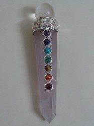 Rose Quartz Seven Chakra Pencil