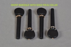 Ebony Baroque with Gold Pin and Collar Pegs
