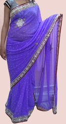 Embroidered Beaded Saree