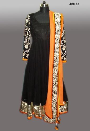 Chanderi Kalidaar Embroidery Suits in  Khan Market