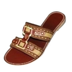 Ladies Leather Sole Flat Chappals in  60-Sector