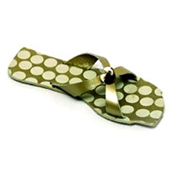 Leather Printed Slippers in  60-Sector