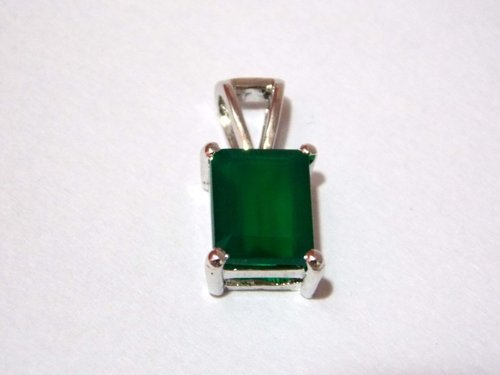 Green Onyx Pendant Genuine Gemstone 925 Sterling Silver in  Sohna Road
