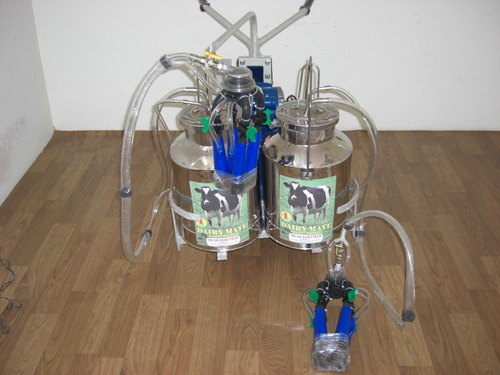 Electric Motor Double Bucket Milking Machinery