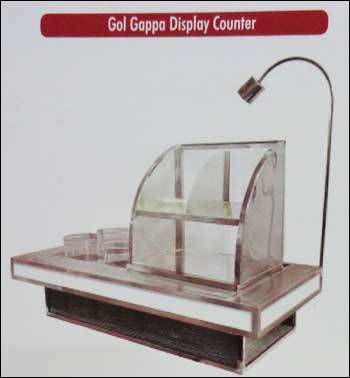 Gol Gappa Display Counter (Steel and Wooden)