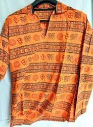 Cotton Printed Om Kurta