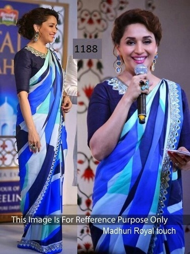 Royal Touch Mirror Work Saree