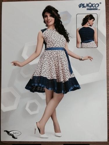 Ladies Printed Frock Design Top In Mumbai Maharashtra Ramdev Apparel