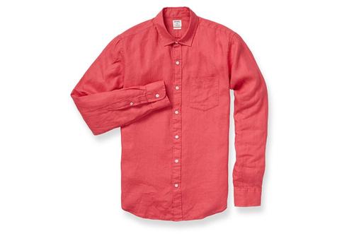 Men Red Linen Shirts