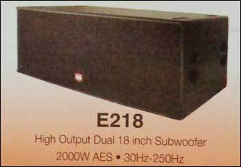 High Output Dual Subwoofer (18 Inch)