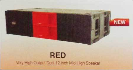 Very High Output Dual 18 Inch Mid High Speaker